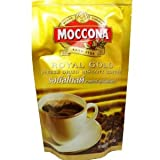 Moccona Royal Gold Freeze Dried Instant Coffee 100% Smooth Coffee Taste and Aroma Net Wt 50 G (1.76 Oz) X 2 Bags