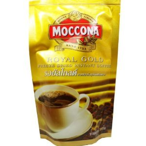 Moccona Royal Gold Freeze Dried Instant Coffee 100% Smooth Coffee Taste and Aroma Net Wt 50 G (1.76 Oz) X 2 Bags by Moccona