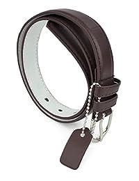 Girls Kids Dress Belts Skinny PU Leather Polished Buckle