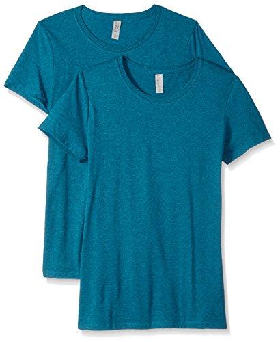 Femme Jerzees Mosaic Heather shirt T Blue 46q6wTdZ