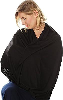 Ainstsk Cuidado de la lactancia portabeb/és regalos bufanda de lactancia para madres c/ómoda cubierta de lactancia gris claro super suave infinito enfermer/ía y lactancia bufanda