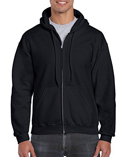 Gildan Men's Fleece Zip Hooded Sweatshirt, Black, 3X-Large