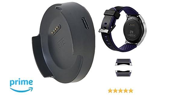 ZTE Genuine Smart Watch Quartz ZW10 Watch Strap Band with Quartz ZW10 harging Dock Cradle with USB (Renewed)