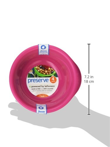 Preserve Everyday Bowl, Pink, 4 Count by Preserve
