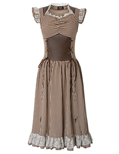 Women Steampunk Gothic Victorian Corset Dress for Wedding Party SL3-2 M
