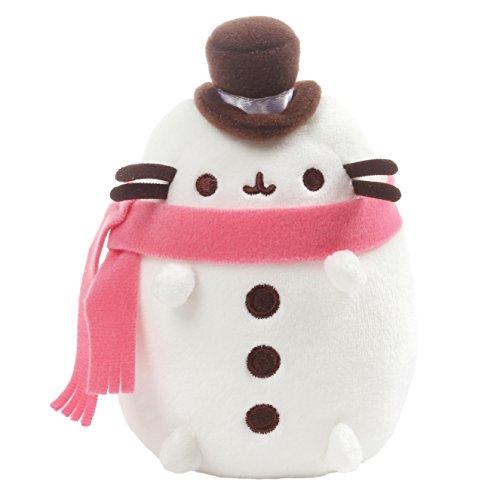 "GUND Pusheen Christmas Snowman Plush 6"" Stuffed Animal, (Snowman Country Christmas Boxes)"