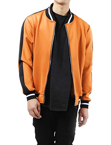 (Mens Track Bomber Jacket Two Tone (Large,)
