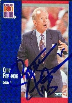 Cotton Fitzsimmons autographed Basketball card (Phoenix Suns) 1991 Fleer #159 by Autograph Warehouse