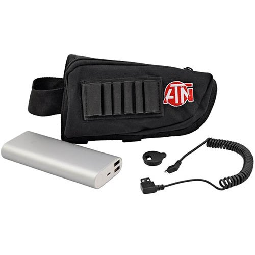 ATN Power Weapon Kit 20,000mAh Battery Pack w/USB Connector, provides up to 22 hrs of continuous use