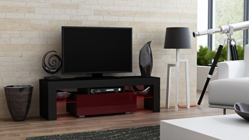 Concept Muebles TV Stand MILANO 130/Modern LED TV Cabinet/Living Room Furniture/Tv Console fit for up to 55