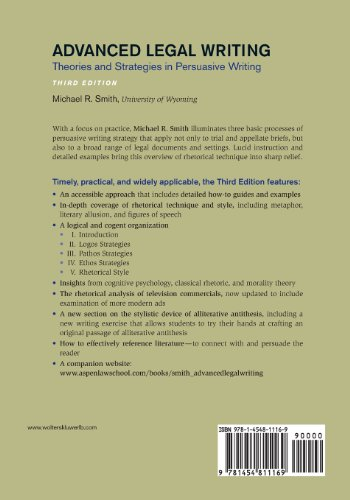 Advanced Legal Writing: Theories and Strategies in Persuasive Writing, Third Edition (Aspen Coursebook)