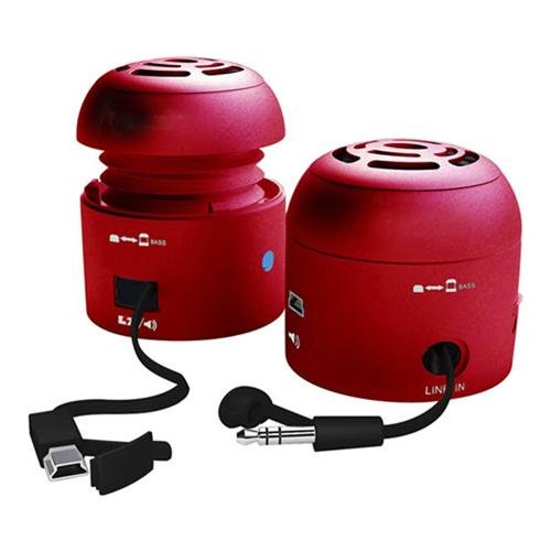 Chill Pill Mobile Speakers iPod/MP3 Players and Laptops (Red)