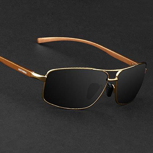 Polarized Drivers Jewelry (JEGOAU 2018 Mirror Men Polarized Sunglasses Tide Aluminum- Sunglasses yurt Driver Mirror Driving Mirror Black (Golden Frame Gray Lens +)