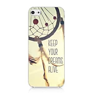 Keep Your Dreams Alive Snap on Case Hard Cover for Iphone 5c 2013 New