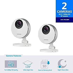 Samsung SmartCam HD Pro SNH-P6410BN Full HD 1080p WiFi Camera Bundle Double Pack