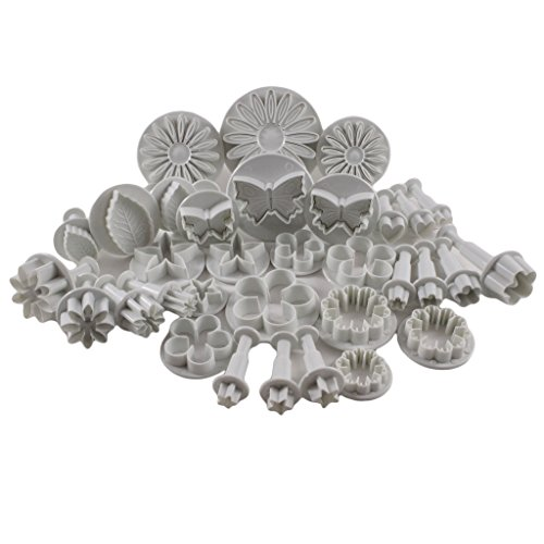 Premium 33 Pc Plunger Cookie Cutter Set by Kurtzy - Various Designs - Perfect For Cake Decorating, Sugar craft, Fondant and Icing - Designed for Both Home and Professional Use by Men, Women and Kids.