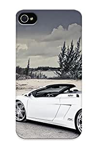 Case Provided For Iphone 4/4s Protector Case Adv1 White Lamborghini Gallardo Phone Cover With Appearance