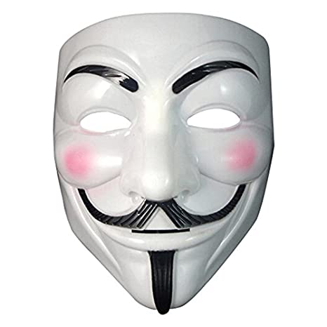 Cacys-Store - 5pcs Party Cosplay mask V for Vendetta Anonymous Guy Fawkes Fancy Dress