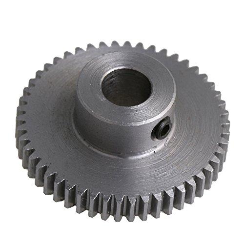 CNBTR 0.5 Module 6mm Shaft Hole Motor Steel Gear Silver 50 Teeth Spur Pinion Gear for DIY - Silver Spur