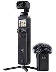 DJI Pocket 2 Combo - 3-Axis Stabilized Camera, HDR Video, 8X Zoom, 64MP Photo, ActiveTrack 3.0, Al Editor, DJI Matrix Stereo, Black