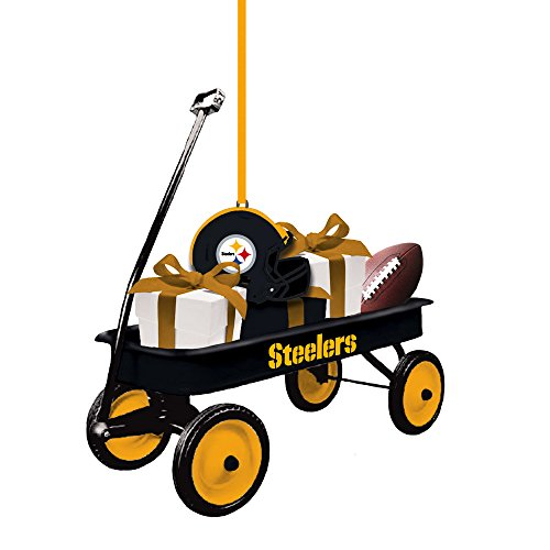 Team Sports America 3OT3824WGN Pittsburgh Steelers Team Wagon Ornament