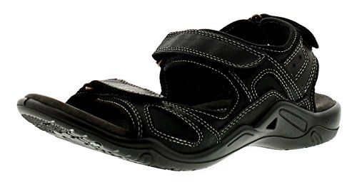 Sandals Leather UK Black Beach 10 6 Heavenly Casual Sizes Feet Black Mens Tracker 5 xpaxwYqt