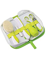Nuvita 1136 Baby Grooming Kit – Newborn Essentials in a Complete Baby Healthcare Set - Baby Hair Brush | Baby Nail Clipper | Baby Nail Files and More in a Cute Zipper Case – EU Brand