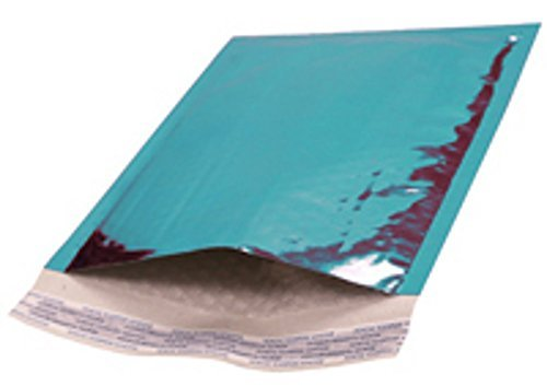 Bubble mailers 8.5 x 11. Padded envelopes 8 1/2 x 11 by Amiff. Pack of 20 Teal cushion envelopes. Exterior size 9.5 x 12 (9 1/2 x 12). Peel & Seal. Glamour Metallic foil. Mailing & shipping & packing by Amiff (Image #1)