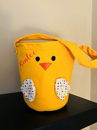 Easter Basket Personalized Monogram Bag Tote Chick