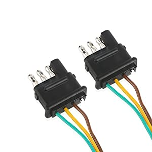 wiring harness for trailer lights automotive parts online com fontic 2 way y splitter adapter flat 4 pin connector trailer wiring harness for