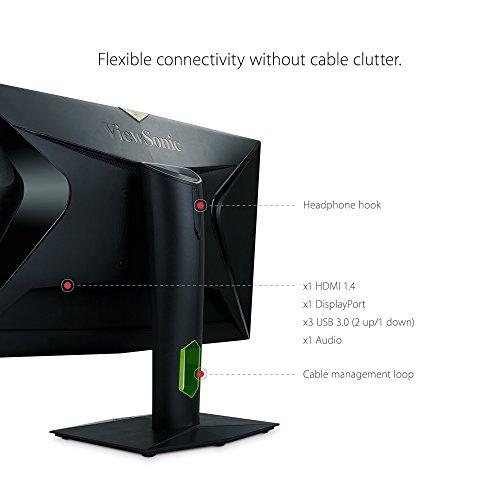 شراء ViewSonic XG2760 27 Inch 1440P 165Hz 1ms Gsync Gaming Monitor with Eye Care Advanced Ergonomics HDMI and DP for Esports