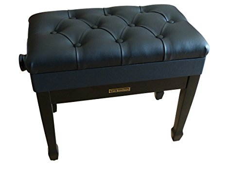 Klavierbank Klavierhocker Pianobank in schwarz mit Notenfach