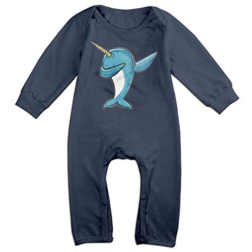 Price comparison product image PMsunglasses Narwhal Dabbing Newborn Babys Long Sleeve Baby Climbing Clothes Navy