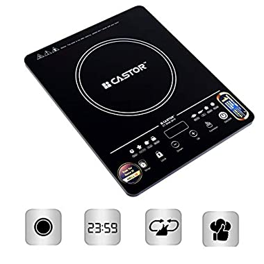 iBELL Castor DIVA201Y 2000W Induction Cooktop with Auto Shut Off & Over Heat Safety Protection with Touch Control,Black 10