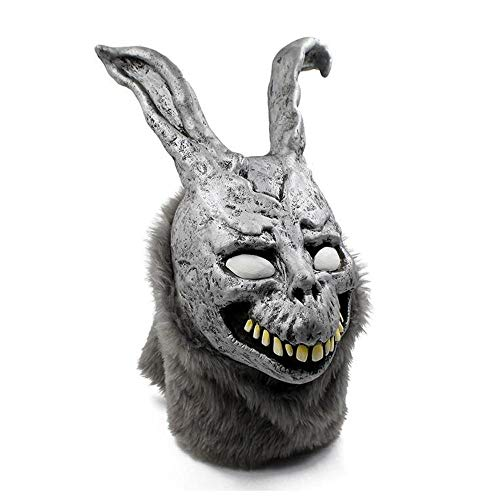 Rwdacfs Halloween mask,Evil Bunny Cosplay mask Haunted House Helmet Hood -