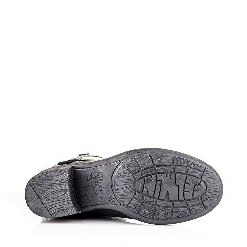shoperama Zapatos de cordones de Piel para hombre Negro negro, color Negro, talla 41 UE