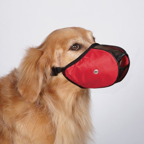 Image of Guardian Gear Cordura Nylon Fabric Mesh Dog Muzzle, Small, 7-Inch, Red