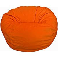 Ahh! Products Orange Anti-Pill Fleece Washable Large Bean Bag Chair