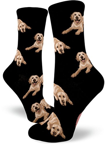 ModSocks Women's Labrador Dog Crew Socks in Black (Fits Most Women Shoe Size ()