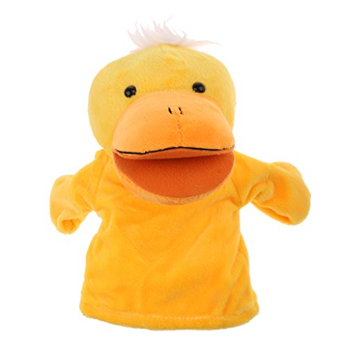 - SM SunniMix Soft Plush Animal Hand Puppets with Movable Mouth, Baby Story Time Velvet Animal Style Educational Toys Preschool Kindergarten Gift - Duck