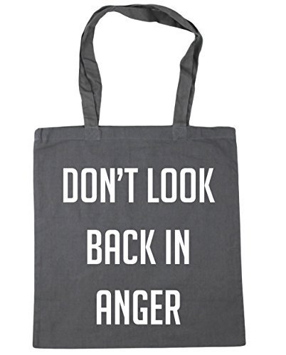 10 Shopping Tote Gym Don't x38cm Bag Grey HippoWarehouse Beach back 42cm in anger litres Graphite look A7YW0Xa