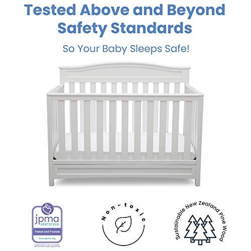 41NkWosAUCL - Delta Children Emery 4-in-1 Convertible Baby Crib, White