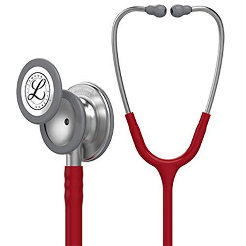 (3M Littmann  Classic III Monitoring Stethoscope, Burgundy Tube, 27 inch, 5627 )