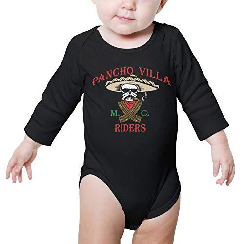 TylerLiu Rebel Motorcycle Clubs Pancho Villa Unisex Baby Boys Girls Onesie Bodysuit Soft Comfortable (Rouge La Burlington Baton)