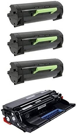 331-9806/_3PKVB 3-Toners//1-Drum Unit SuppliesMAX Compatible Replacement for Dell B2360DN//B3460DN//B3465DN Toner//Drum Combo Pack