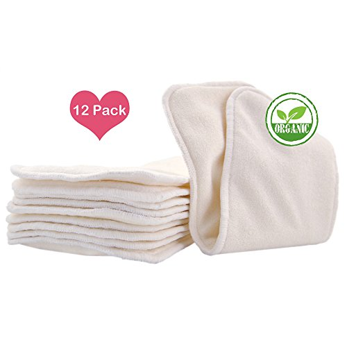 Love My® Baby Cloth Diaper 12pcs 4layers Super Water Absorbent Antibacterial Bamboo Inserts