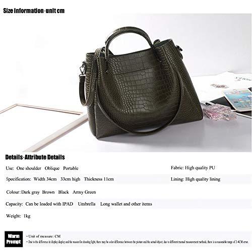 De Mujer Grande Bandolera Pu Green Jixdf Material Simple Nuevo Hombro Para Bolso Twxq00Xv5