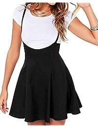 Women's Suspender Skirts Basic High Waist Versatile Flared Skater Skirt
