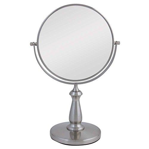 (Zadro VAN48 Two-Sided Vanity Swivel Mirror, Satin Nickel, 1X and)