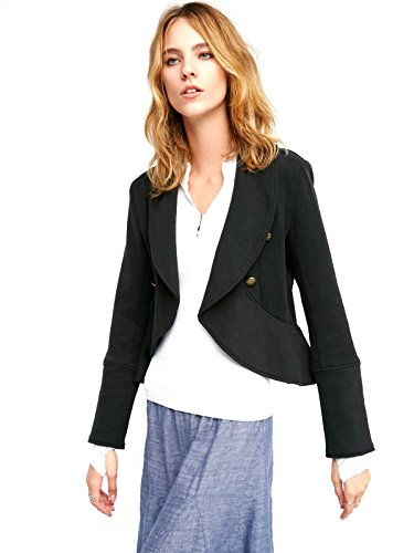 Free-People-Flared-and-Femme-Jacket-L-Black